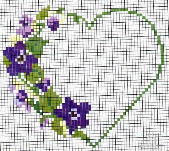 Шаблоны цветов для вышивки крестом