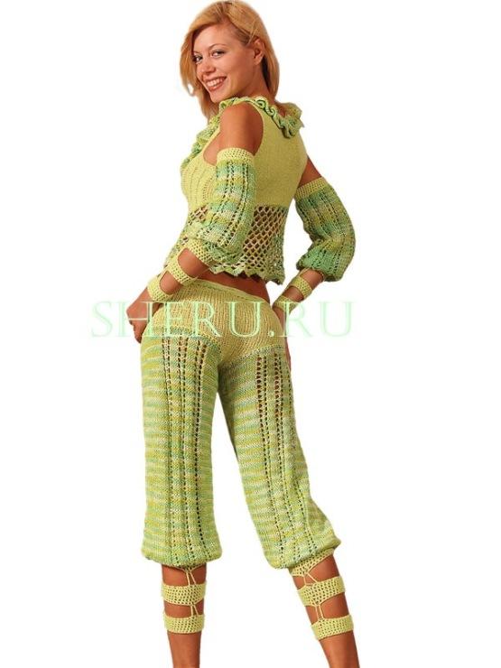 Схема вязания штанишек детям фото 375