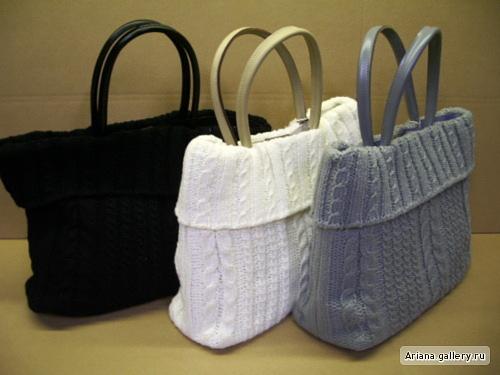 Как вяжут сумки