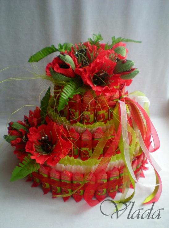 Букеты из конфет с пошаговым фото маки