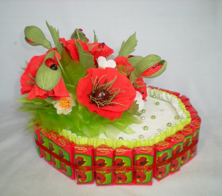 Красный мак таганрог торт-фото