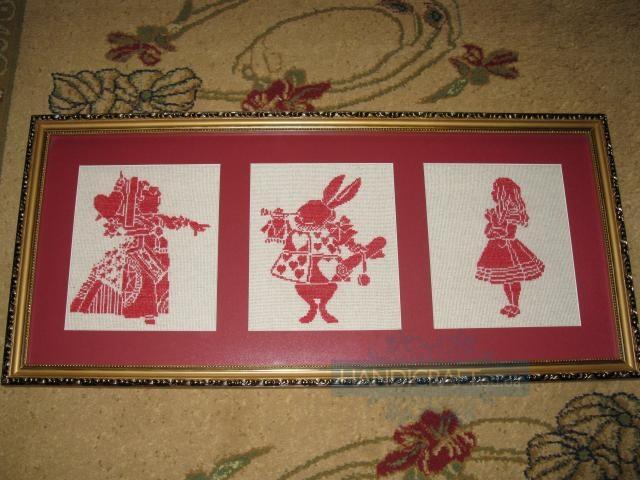 Алиса в стране чудес схемы вышивки