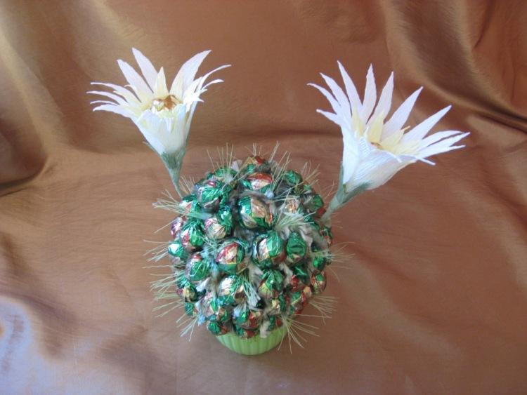 Кактус из конфет своими руками пошаговое фото 3861