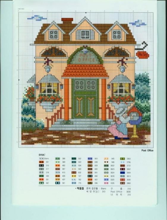 Вышивка крестом схемы домов 14