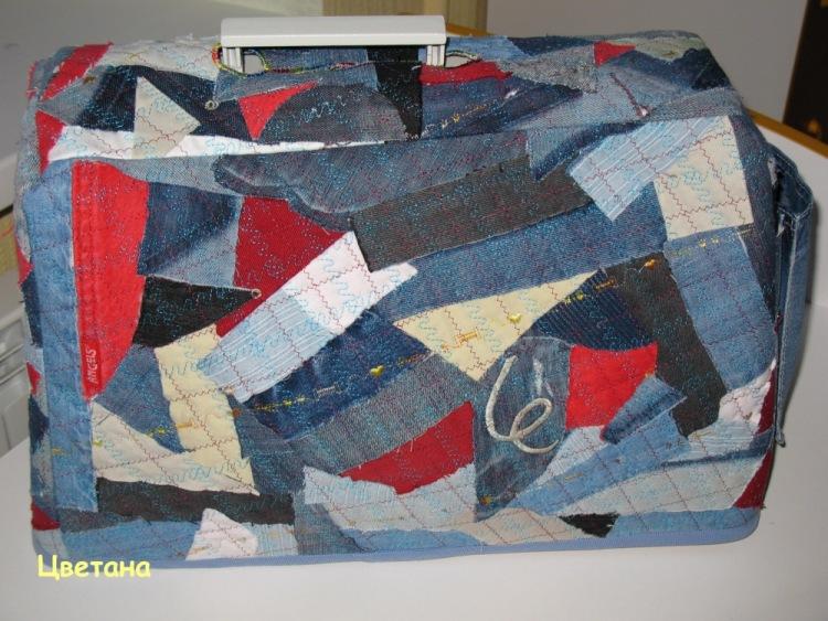 Сшить чехол для швейной машинки из старых джинсов 89