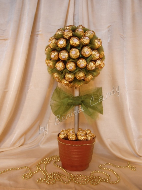 Деревьев из конфет мастер класс с пошаговым