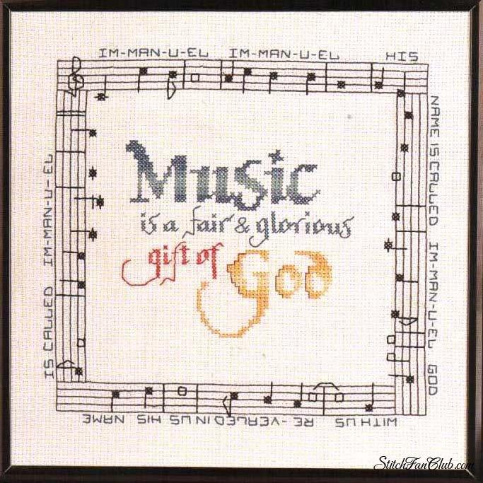 Музыкальная в вышивке схемы 696