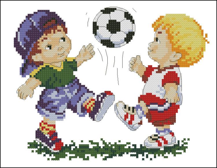 Схемы вышивок футболистов