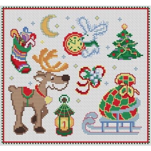 Рисунок для вышивки к новому году