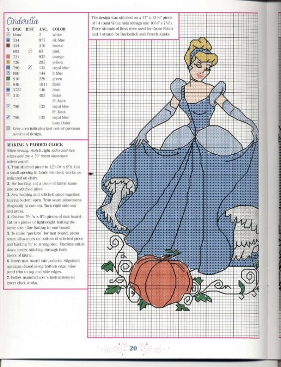 Принцессы схемы вышивок