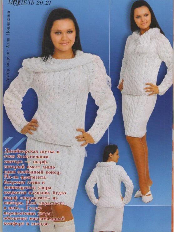 Вязание для женщин на зиму спицами с описанием