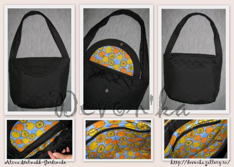 Сшить сумку из плащёвки 5
