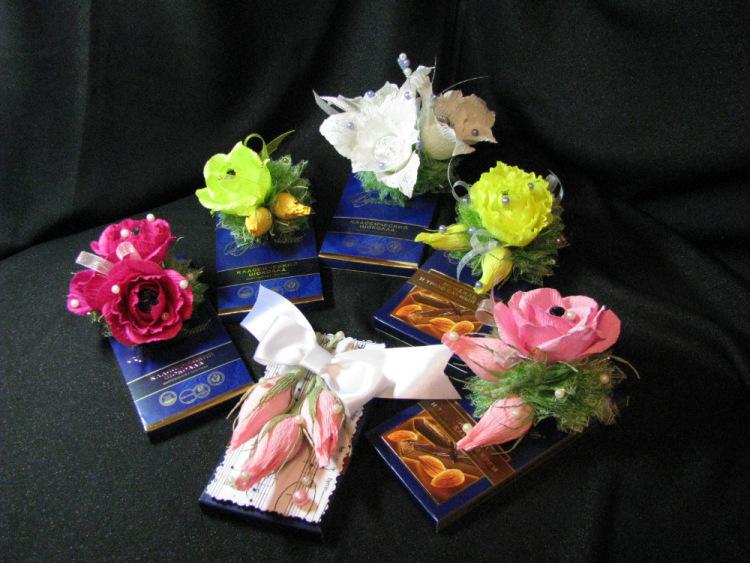 Как оформлять конфеты своими руками 41