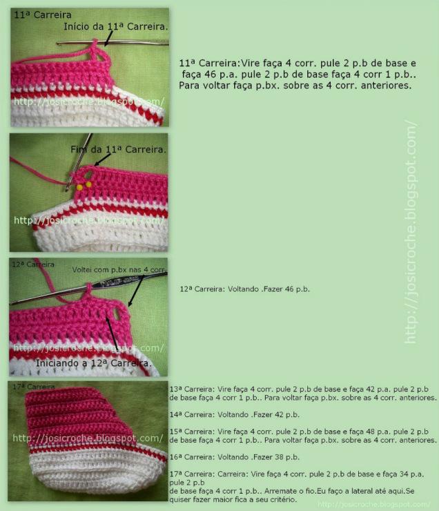 Детские кроссовки крючком - описание, схемы+фото