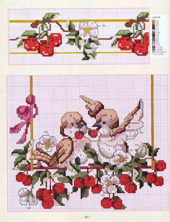 Вышивка крестом дорожки и салфетки схемы