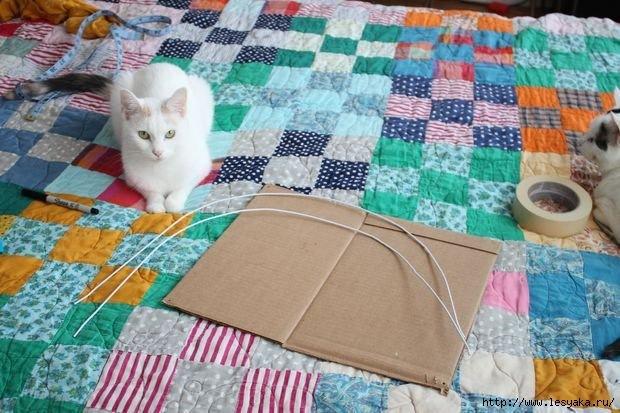 Лежанка для кота из подручных материалов фото