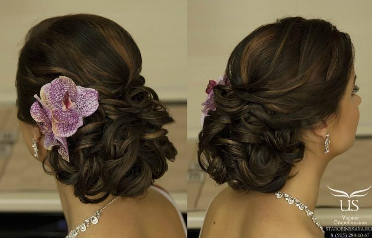 Свадебные прически на средний длины волос