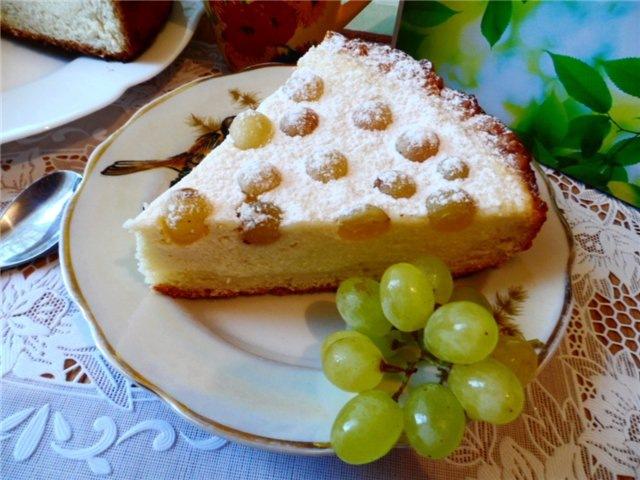 Пирог из творога без яиц