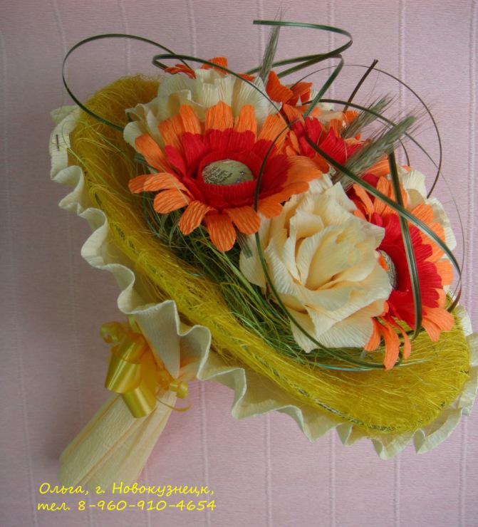 Букет из цветов своими руками для учителя 998