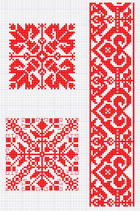 Узор и орнамент вышивка крестом 139