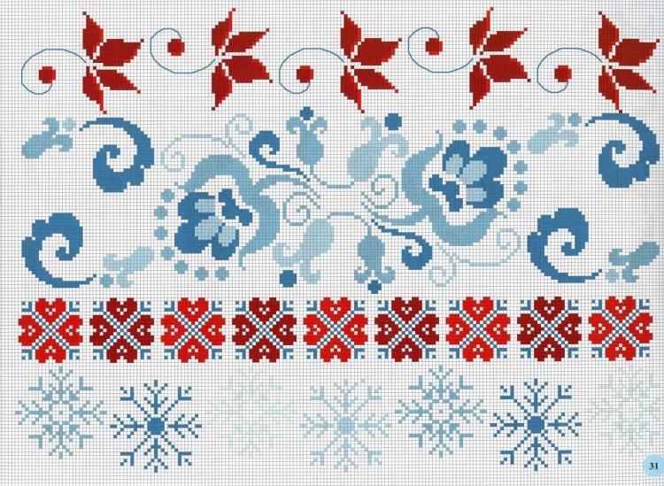 Узор и орнамент вышивка крестом 543