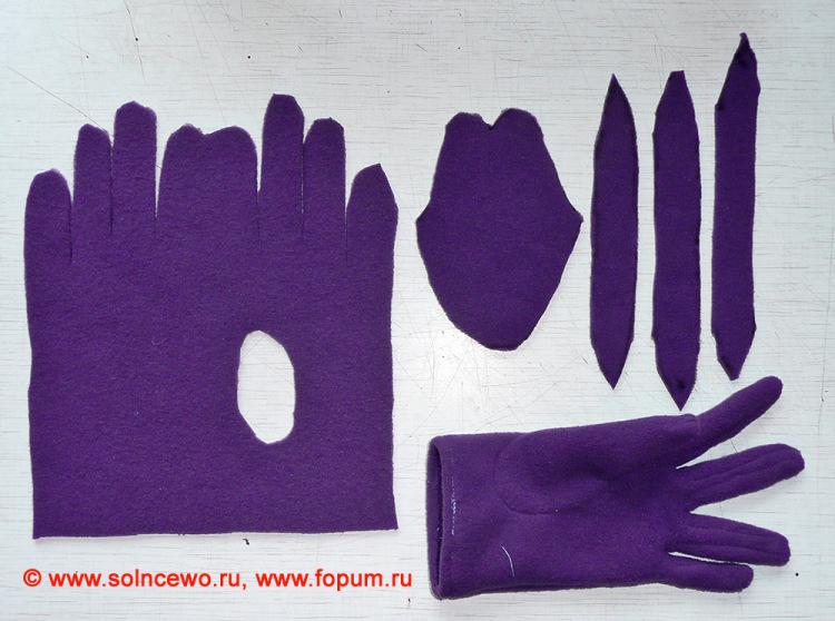Перчатки трикотажные своими руками 121