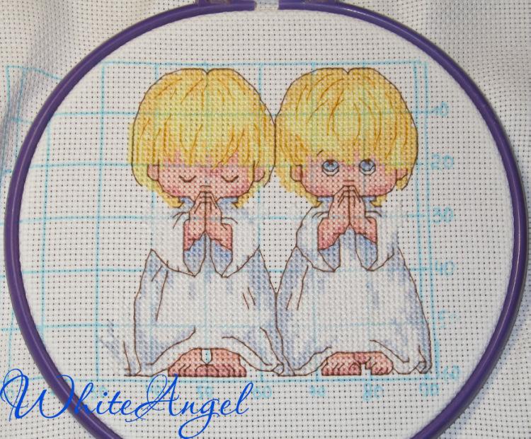 Схемы для вышивки три ангелочка 58