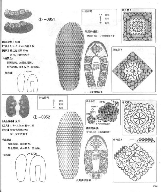 Схемы вязания тапочек мастер класс 72