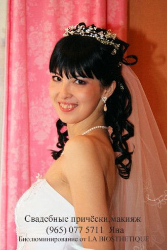свадебные прически с фатой описание